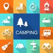Camping icons Travel and Tourism concept.   Illustration. — Stock Photo #78989890