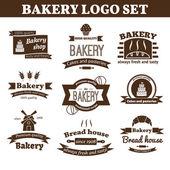 Set of vector bakery logo — Stock Vector