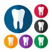 Zestaw ikon ząb — Wektor stockowy