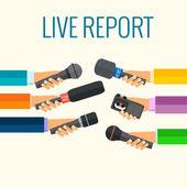 Live report — Stock Vector