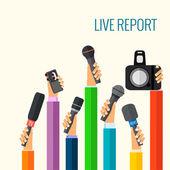 Live report — Vector de stock