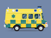 Emergency paramedic car — Stock Vector