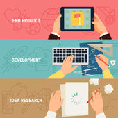 Concept  application development stages — Stock Vector