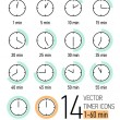 Set of timer icons — Stock Vector #60824595