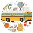Back to school items — Stock Vector #60820213