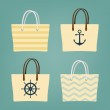 Beach hand bags — Stock Vector #60820329
