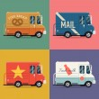 Local delivery service vans. — Stock Vector #60821227