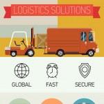 Loading cargo into truck — Stock Vector #60822701