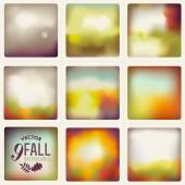 Fall themed abstract backgrounds. — Vector de stock