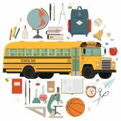 Back to school items — Stock Vector