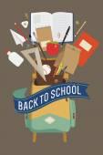 Retour à l'illustration de l'école — Vecteur
