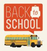 Bus with 'Back to school' — Stock Vector