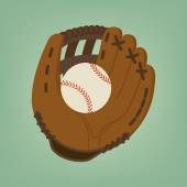 Baseball glove with ball — Stock Vector