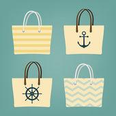 Beach hand bags — Stock Vector