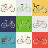 Urban, town and city bicycles — Vector de stock