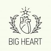 Heartfulness line icon — Stock Vector