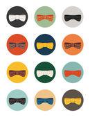 Bow tie icons — Stock Vector