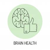 Element on brain health. — Stock Vector