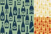 Seamless champagne bottles — Stock Vector