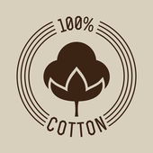 Hundred percent cotton — Stock Vector