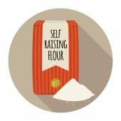 Self rising flour icon — Stock Vector