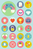 Gamification strategy in business icons. — Stok Vektör