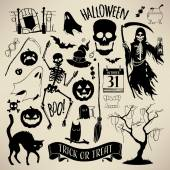 Halloween design elements. — Cтоковый вектор