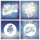 Happy 2015 new year greetings — Stock Vector