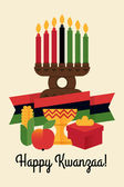 Happy Kwanzaa candles — Stock Vector