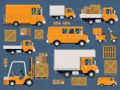 Fleet vehicles set — Stock Vector