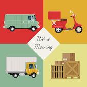 Shipping service icons — Stockvektor