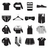 Men wear  icons — Stock Vector