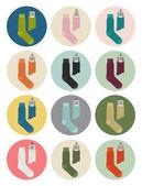 Men's socks icons — Stock Vector
