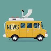 Live news wagon — Stockvektor