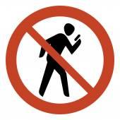 No texting while walking — Stock Vector