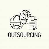 Element on outsourcing — Vector de stock