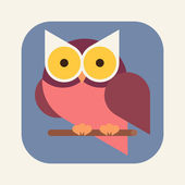 Modern owl  icon — Stock Vector