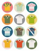 Polo shirt icons — Stock Vector