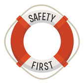 'Safety first' lifebuoy icon — Stock Vector