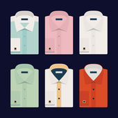Six different dress shirts — Stock Vector