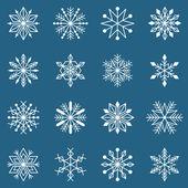 White snowflake silhouettes — Stock Vector