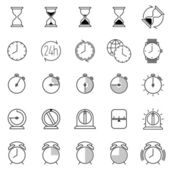 Time icons collection — Wektor stockowy