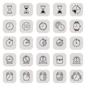 Time icons collection — Stock Vector