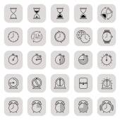 Time icons collection — Vecteur