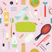 Travel and portable toiletry items — Stockvector