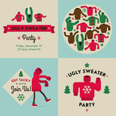 Tacky sweater party invitation — Stock Vector