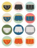 Men's underwear icons — Stock Vector