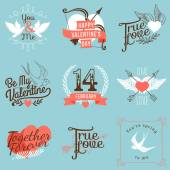 Labels on valentines day. — Vector de stock
