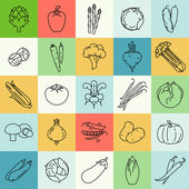 Contour vegetable clip art — Stockvector