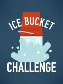 Ice bucket challenge. — Stock Vector